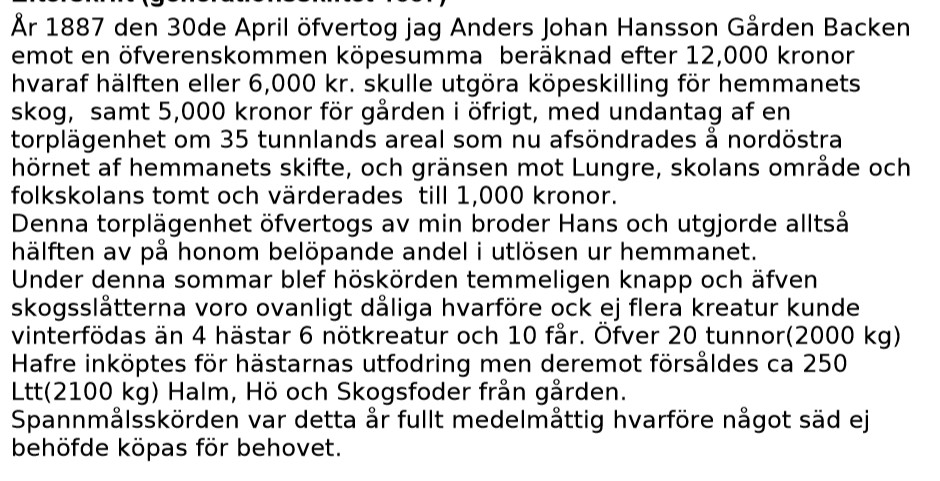 Anders Hansson blir hemmansägare