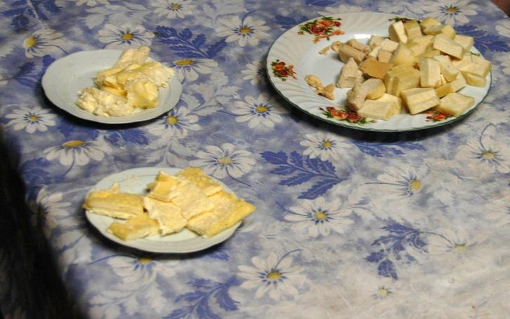 Färsk mongolisk mjölkmat