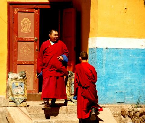 Buddistmunkar
