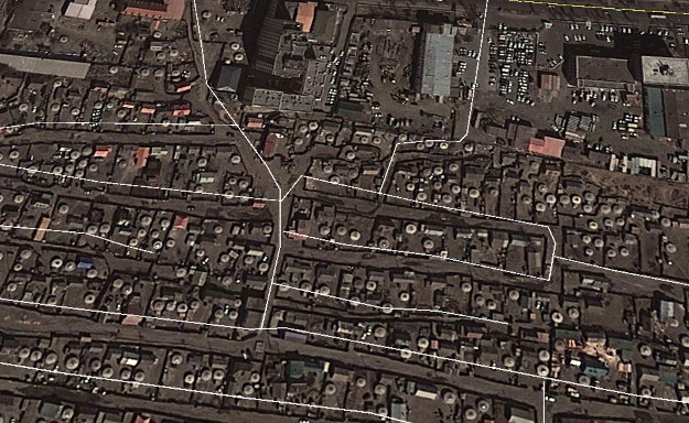 Kåkstad med tält Ulaan Bataar