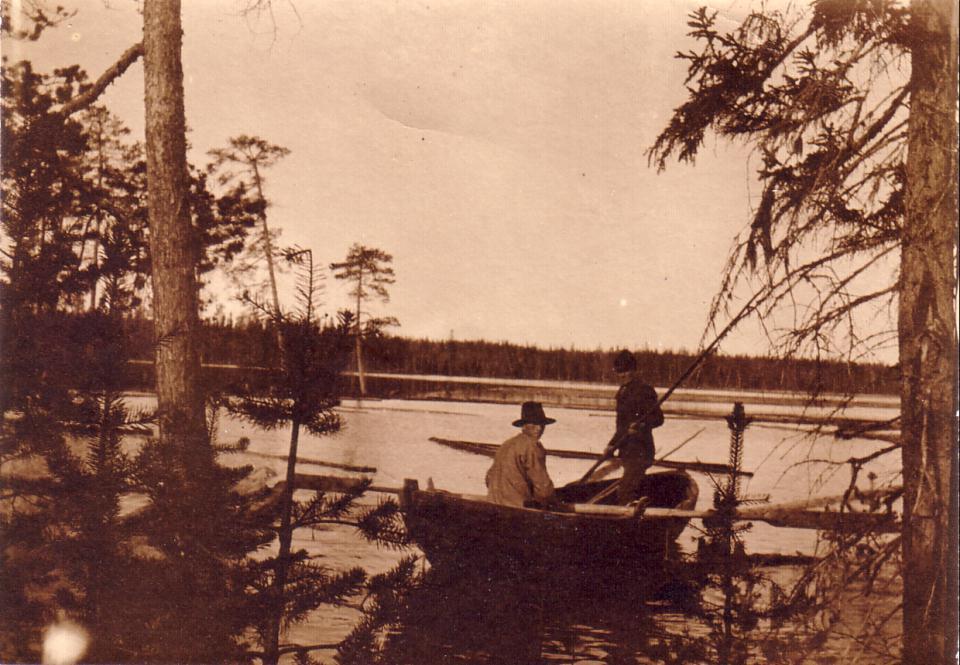 Flottning i Mellansjön 1910, Pål Pålsson o Jonas Hansson