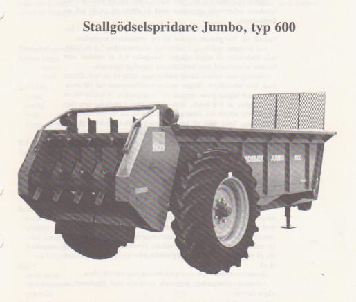 Fastgödselspridare Jumbo 6 m3