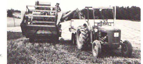 Skördetröskn 1960-tal småbruk