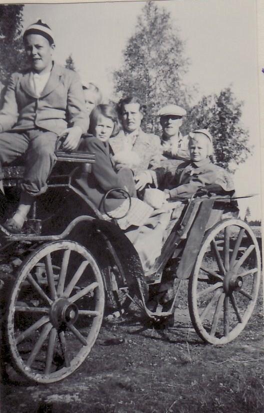Syskon på besök början 50-tal