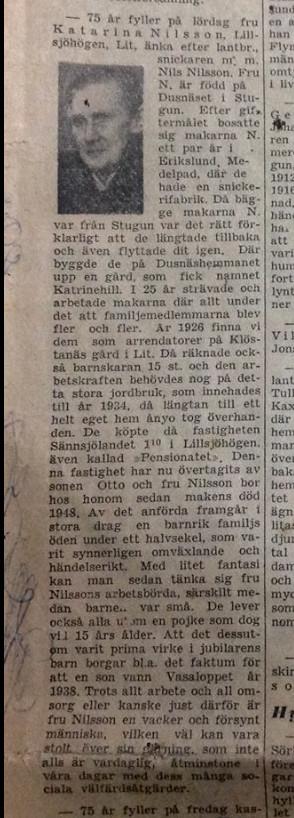 Katarina Nilsson 75 år