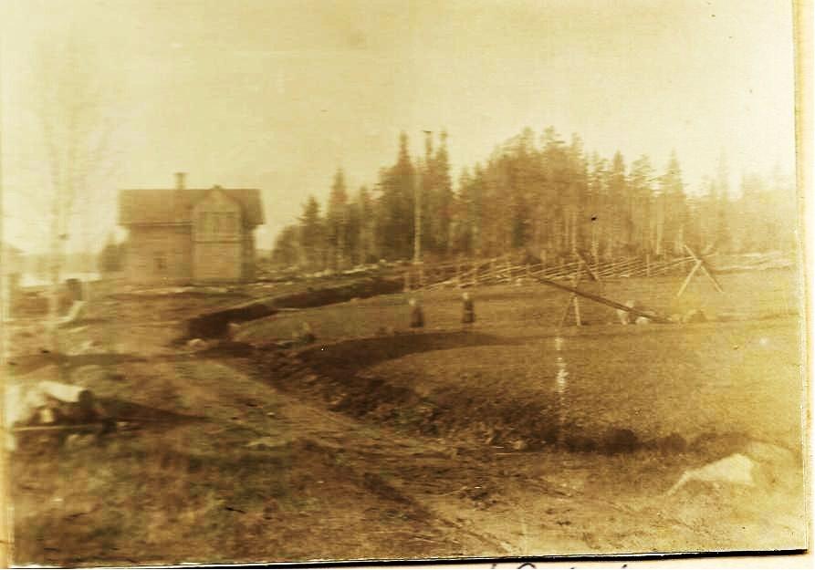 Nybygget Katrinehill våren 1906