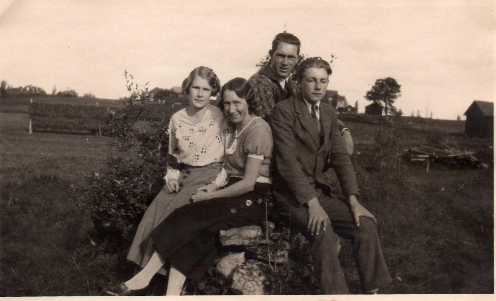 Gudrun, Stina, Otto och Karl-Erik